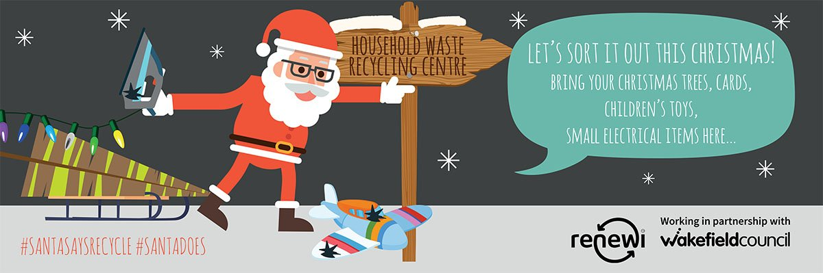 Lets sort it out this Christmas - Santa says recycle